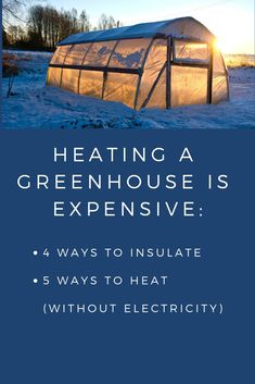 gardening winter How to heat a greenhouse without electricity Diy Greenhouse Plans, Heating A Greenhouse, Backyard Greenhouse, Greenhouse Growing, Small Greenhouse, Greenhouse Wedding, Greenhouse Plants, Greenhouse Vegetables, Gardening Vegetables