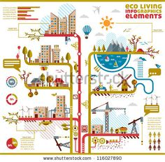 Ecology city, social info graphics vector elements. by Stella Caraman, via ShutterStock