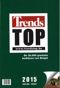 Trends Top 2015: de 30.000 grootste bedrijven van België. Plaats: 657.3 TREN 2015