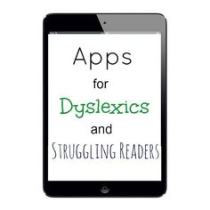 Apps for Dyslexics and Struggling Readers – Lisa Herman Apps for Dyslexics and Struggling Readers This site has apps for all sorts of special needs students. Apps for Dyslexics and Struggling Readers Reading Help, Teaching Reading, Teaching Tools, Just In Case, Just For You, Learning Support, Learning Apps, Reading Specialist, Reading Strategies