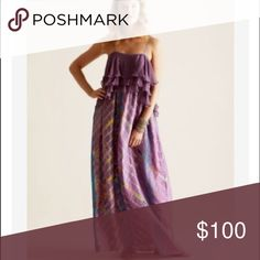 Calypso St. Barth Silk Maxi dress Reduced✂️✂️✂️Gorgeous dress from Calypso St. Barth. Very flowy at the waist, more fitted at the bust. Length has been altered to fit my 5'2 frame:) Gently used. Calypso St. Barth Dresses Maxi