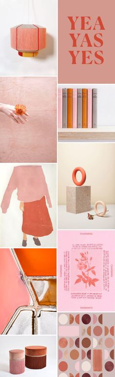 color palette: pink + coral.