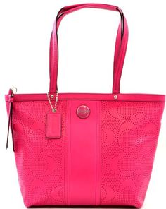 Coach Signature Stripe Perforated Leather Tote Purse Shoulder Bag, Pink Watermelon Coach,http://www.amazon.com/dp/B00CJZHWG4/ref=cm_sw_r_pi_dp_WH7Msb19Q25WAKNJ