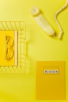 Yellow Office via Behance  ASTROBRIGHTS Solar Yellow would make any office pop!