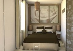 Donner à une chambre une ambiance à la fois douce et reposante, réaliser par notre #decoratrice #HautsDeSeine