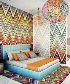 My dream bedroom. Missoni!