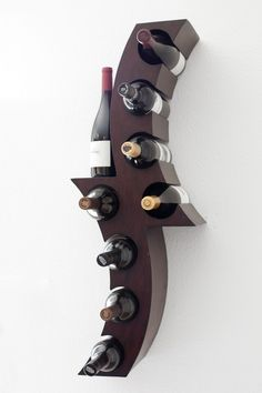 home_decor - 17 Functional Wine Storage Items That Will Fit In All Styles Cool Wine Racks, Unique Wine Racks, Rustic Wine Racks, Rack Design, Wine Storage, Storage Ideas, Bottle Holders, Wood Design, Decorating Your Home