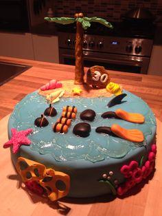 Cake scuba diving