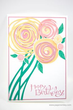 Swirly Birthday bouquet with Stampin 'Up!