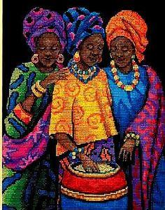 Dimensions Yoruban Beauties Cross Stitch Kit | eBay