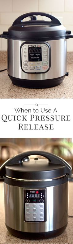 What is a quick pressure release or a natural pressure release and when do I use them? Those are the first questions new pressure cooker users ask.
