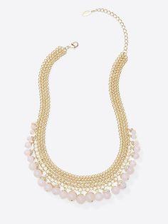 Ann Taylor Rose Bobble Necklace
