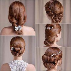 Bridal Hairstyles - #bridalhair #hairstyle #hairdo #specialoccasion #updo - bellashoot.com