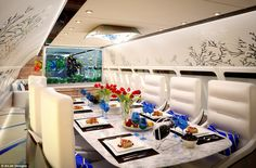 Elite travellers are also expecting improved food service on their jets, with kitchens ca[able of creating gourmet meals