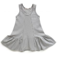 tane scoop neck stripe dress (shade + ecru)