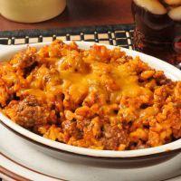 Cheesy Beef and Pasta Crockpot Casserole