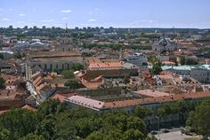 LT_080726 095 Liettua Vilnan vanhaa kaupunkia Gediminasin tornis
