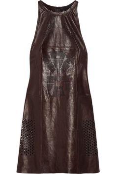 Stadium laser-cut leather dress by Alexander Wang