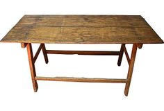 Solid Sabino Wood Table on OneKingsLane.com described by INSH'ALA Solid sabino wood work table. It is rare to find this table with both top and base in sabino. This table has a beautiful patina from age and use. Mexico.