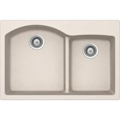 Buy Here: http://thd.co/1K2GQ1m SCHOCK EDO EDON175T026 Top Mount Composite 33 in. 0-Hole 70/30 Double Bowl Kitchen Sink in Everest #kitchensink #kitchensinks #kitchen #sinks #schock #granitesink