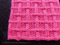 Square Lattice stitch pattern. Using only Knit and Purl. Pattern is written, not charted.