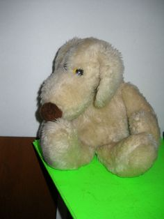 "Vintage 1980 10"" Le Mutt Francesca Hoerlein Cream Plush Puppy Dog"