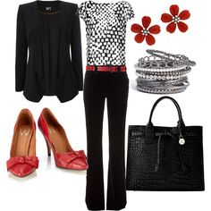 black and red professional - Polyvore
