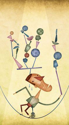 O grande circo do mundo illustration by Daniel Bueno