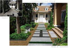 ออกแบบ สวนหน้าบ้านเล็กๆ
