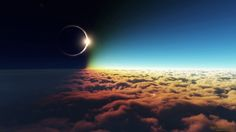 Eclipse Above the Clouds