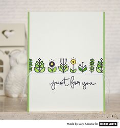 Just for You by Lia is a Hero Arts collection of Clear Design Stamps featuring a variety of stylized flowers, perfect for creating elegant cards and crafts. Our Clear Design Stamps peel off their b…