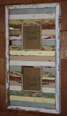Distressed Picture Frame Pallet Art, Pallet Ideas, Frame It, Diy Frame, Painted Frames, Distressed Picture Frames, Recycled Decor, Funky Decor, Cypress Wood