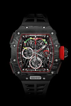 luxury watches Richard Mille launched the first timepiece from his eponymous watch brand in Seventeen years later, the brand has made an indelible mark on the luxury watch industr Richard Mille, Amazing Watches, Cool Watches, Rolex Watches, Dream Watches, Swiss Luxury Watches, Luxury Watches For Men, Patek Philippe, Tag Heuer
