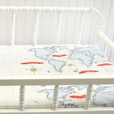 Crib Bedding Out to Sea Blue