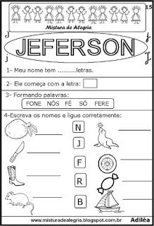 Brincando com os nomes -Jeferson