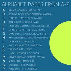 Alphabet dating ideas quilting