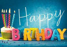 Bunter Geburtstagsmuffin | Happy Birthday | Echte Postkarten online versenden | Gutsch Verlag
