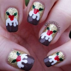 A round-up of the best Christmas nail art ideas.