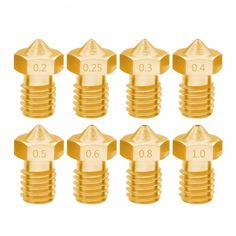 Printer Accessories threaded Nozzle 0 2 0 25 0 3 0 4 0 5 0 6 0 8 1 for 1 3 filamnet Full Metal (Discount 7 % )