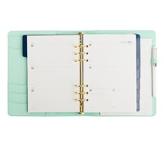 Kikki-k 2015 Leather Time Planner includes monthly and weekly planners, notes pages, pen loop, elastic closure and more.