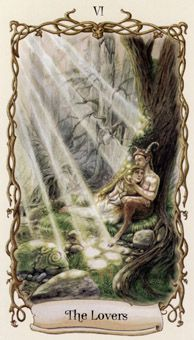 December 12 Tarot Card: The Lovers (Fantastical Creatures deck) Follow your heart over your mind now -- when you act with openness and kindness, openness and kindness find their way back to you