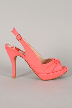 Qupid Embrace-35 Fabric Knotted Slingback Heel