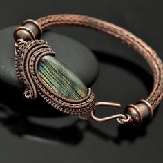 wire wrap, wire weaving, wire wrap bracelet, wire wrap jewelry, copper jewelry, copper bracelet, viking knit bracelet, viking knit, handmade jewelry, nicole hanna jewelry, one of a kind jewelry, viking knit bracelet, wire wrap labradorite, labradorite bracelet