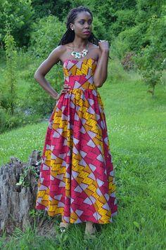 Aminata Long Tube Dress – Pink