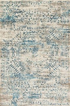 Loloi Kingston Area Rug - This Ivory - Blue rug is an excellent choice for your home. Find out why many others decide to buy from RugStudio Coastal Bedrooms, Coastal Living Rooms, Rugs In Living Room, Dining Room Rugs, Bedroom Rugs, Bedroom Furniture, Master Bedroom, Furniture Design, Bedroom Office