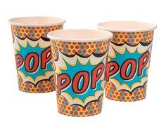Pop Art Superhero Party - Paper Cups