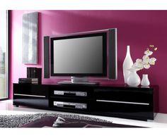 Meuble de télé noir laqué #meubletele