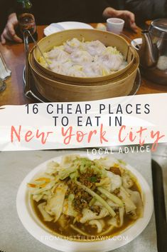 From a New Yorker of 12 years, here are 16 cheap but delicious places to eat in New York City! // PIN FOR LATER! // #newyork #newyorkcity #nycfood #nyc #manhattan #newyorkcitytravel #manhattanrestaurants #manhattantravel #newyorkcityrestaurants #nycrestaurants