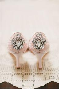 blush bridal shoes | onelove photography - Blush Wedding Details