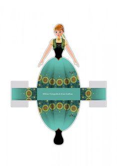 Frozen Fiebre Congelada: Cajas con Forma de Vestido para Imprimir Gratis. | Ideas y material gratis para fiestas y celebraciones Oh My Fiesta!